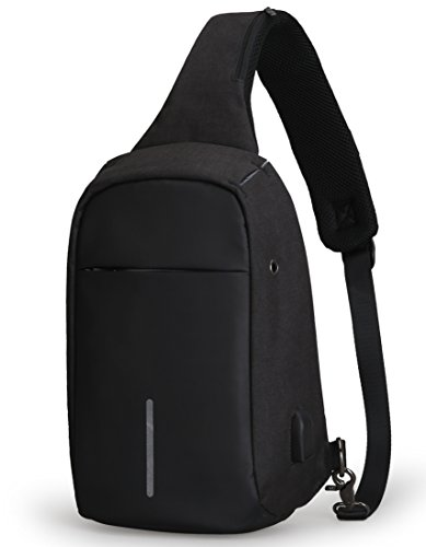 48b8f239bada Anti Theft Sling Bag Shoulder Chest Cross Body Backpack Lightweight Casual  Daypack
