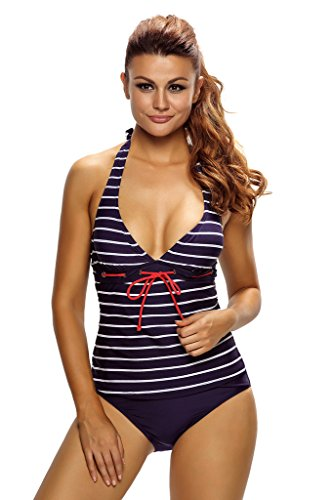ff6ea848486f15 Tankini swimsuit are popular with ladies of all ages for the moderate  coverage. Size chart is for reference only, there may be a little  difference with what ...