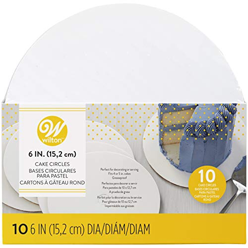 bd5a7a322 Size: 6 inch Diameter, 15cm. Color: White. Each cake circle in set of 10  measures 6 inches in diameter. To keep the center of the cake as flat as  possible, ...